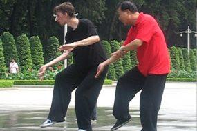 Maître Zheng Xudong et Samuel Sclavis